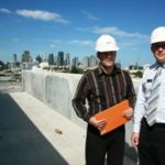 Inspecting SL8 apartment with David Veerman (r)