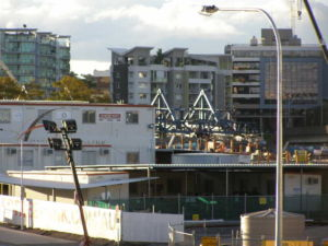 a busy construction site... the Hale Street Link underway today