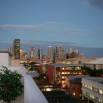 Rooftop outlook of Greenwich apartments over Brisbane city