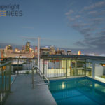 The rooftop plunge pool at South Brisbane's Greenwich Apartments