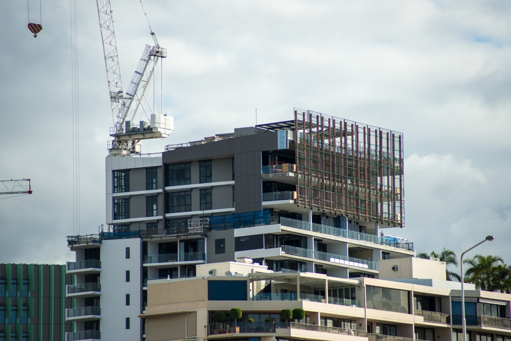 Peak Apartments under Construction.