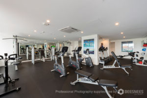 The well-equpped gym at Spring Hill's The Johnson