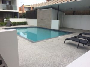 Pool area at Vertice Apartments