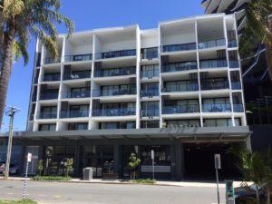 Street view of Veritas Apartments- Woolloongabba