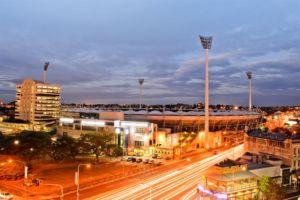 View of Gabba Stadium Twilight - Woolloongabba